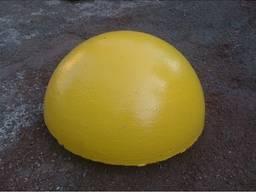Полусфера бетонная окрашенная 500х250
