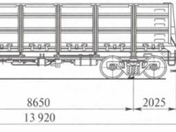 Полувагоны б/у, люковые, модели 12-119, 12-753, 12-141