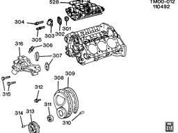 Помпа двигателя GM V6 4. 3 (погрузчики Toyota, Nissan)