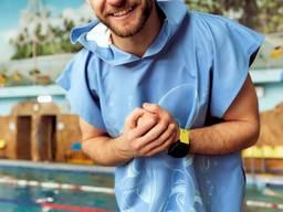 """Пончо - пляжний рушник з капюшоном """"Восьминіг""""."""
