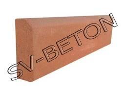 Поребрик, бордюр прессованный, бетонный