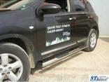 Пороги из труб для Nissan Qashqai с 2007-2011 г. - фото 1