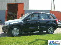 Пороги из труб для Suzuki Grand Vitara с 2005-2014 г.