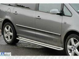 Пороги площадки для Volkswagen Sharan с 2010 г.