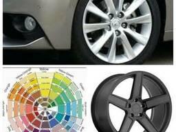 Порошковая покраска дисков автомобиля.