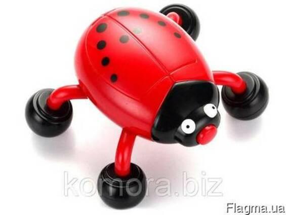 Портативный массажер Божья Коровка на батарейках Beetle Mass
