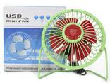 Портативный мини-вентилятор Fan Mini Sanhuai A18 Green +. .. - фото 6