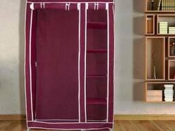 Портативный шкаф органайзер на 2 секции из ткани
