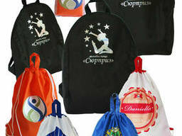 Пошив сумок, рюкзаков на заказ с фирменным логотипом. ..