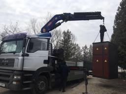 Послуги крана-маніпулятора, вантажні перевезення