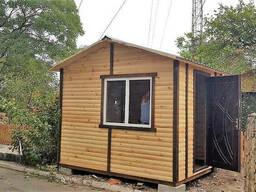 Пост охраны деревянный утеплённый 3, 0х2, 4 м
