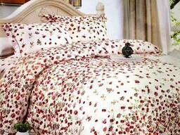 Постель сатин - комплект Розовое поле