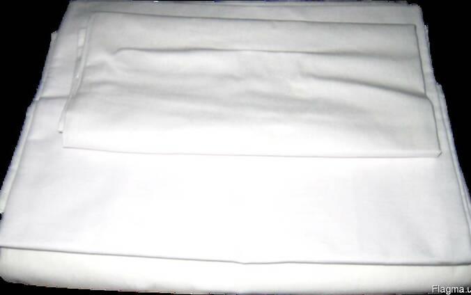 Постельное белье бязь белая;наволочка, пододеяльник, простыня