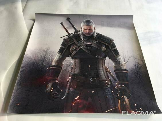 Плакат подарок Witcher геймеру Ведьмак дизайнерский PrintHouse 150 см х 150 см