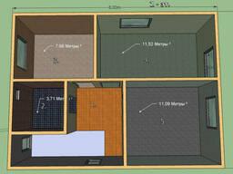 Постоим Дом 99,5 м.кв. Размер 8 на 6м, 2 этажа. 18450 у.е.