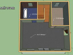 Построим дом 128 м.кв. Размер 8 на 8м. 2 этажа. Балкон.