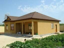 Построим дом 9, 6 на 7, 9м. Площадь 75, 45 м. кв.