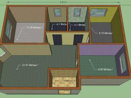 Построим дом. Проект Ясон. Размер 9, 8 на 7, 1м. Общая 69, 2 м2