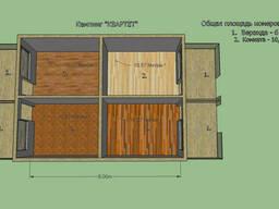 Построим кемпинг, дом для баз отдыха 8 на 5, 99м. На 4 номера