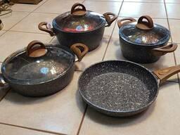 Посуда кухонная, набор, Эко-гранит. Турция