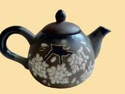 Посуда керамическая (турки, штофы, чашки, наборы, чайники