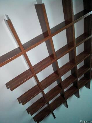 Купить потолок грильято дерево