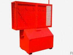 Пожарный стенд закытого типа (сетка) - описание Стенд зак