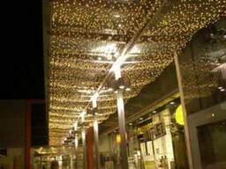 Праздничная подсветка, новогодняя иллюминация, гирлянды