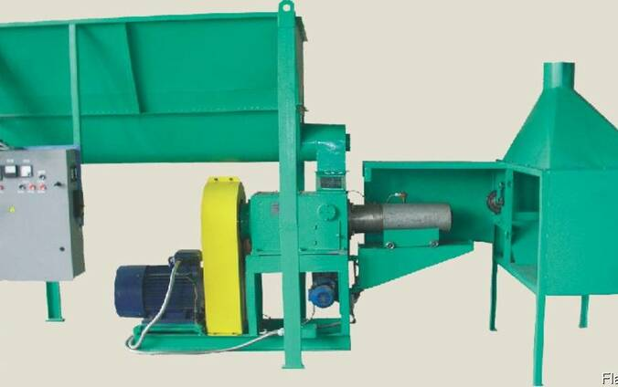 Пресс УБТ-350 для изготовления топливньіх брикетів