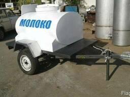 Прицеп для транспортировки молока с охладителем 1000 л