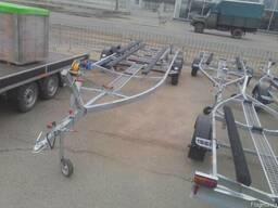 Прицеп для катера 7. 5м, 2 тонны. Без тормозной системы.