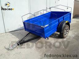 Прицеп легковой б/у колеса с дугами под тент 1200х2000х450 - Fedorov - прицепы и фаркопы