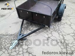 Прицеп легковой, фанерные борта 1270х2150х400 - Fedorov - прицепы и фаркопы Киев