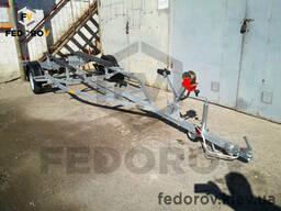Прицеп оцинкованный лодочный (лафет) для килевых алюминиевых лодок 5. 5 - Fedorov