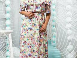 Принтовое женское платье в пол 46-60р , доставка по Украине