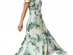 Принтовый длинный платье- сарафан 44-50, доставка по Украине