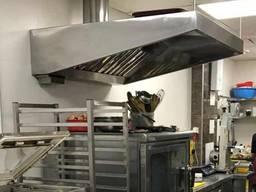 Пристенный зонт вытяжной, вытяжка для кафе промышленная
