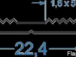 Прижимная планка для вентилируемыx фасадов 22, 4x3SY 60419 б