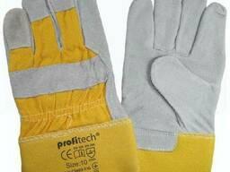 Прочные рабочие перчатки из спилка