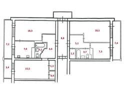 Продам большую 4-х ком. квартиру 110 кв. в р-не ул. Киевская