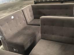 Продам бу коричневый диван П-образный в отличном состоянии