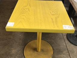 Продам бу стол желтый на металлической ноге