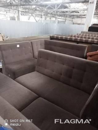 Продам б/у диван п- образный коричневый