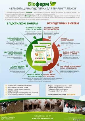 Продам ферментационная подстилка Биоферм для животных и птиц
