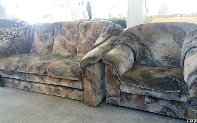 """Продам: Комплект диван и кресло в ткани """"Антикоготь""""."""