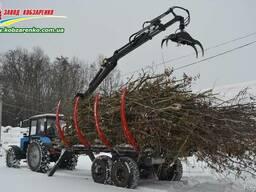 Продам Прицеп лесовоз с манипулятором. Для веток, деревьев.