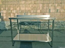 Продам стол разделочный с бортом и полкой бу