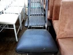 Продам стулья хромированные сидение кож зам б/у