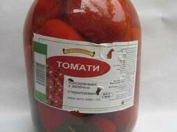 Продам томаты консервированные с стеклобанке 3 л