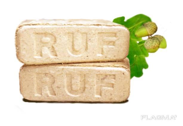 Топливный дубовый брикет RUF (РУФ) (Дуб 100%).